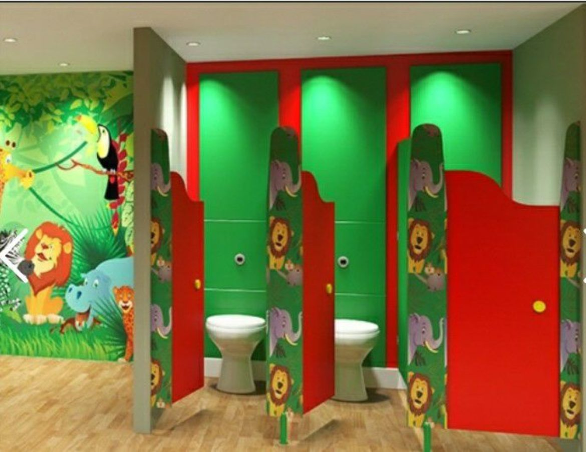 Partition Toilet cubicle kid