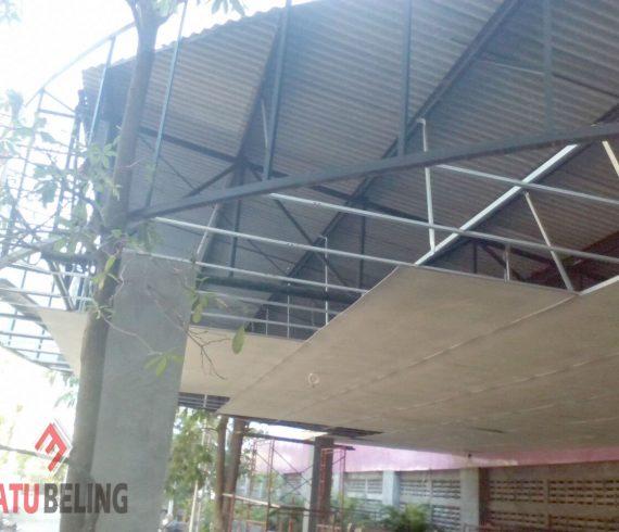 Pemasangan Plafon Teras di Kenjeran Park Surabaya